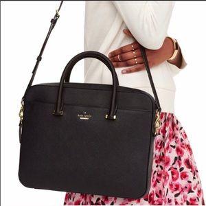 Kate Spade✨NWOT✨Laptop Black Leather Briefcase